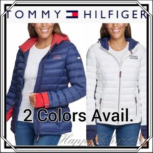 Tommy Hilfiger Ladies' Packable Jacket Puffer,Navy